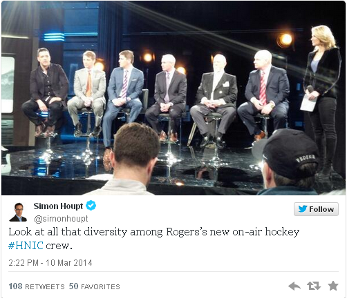 hockey night in canada twitter + sexism in canada