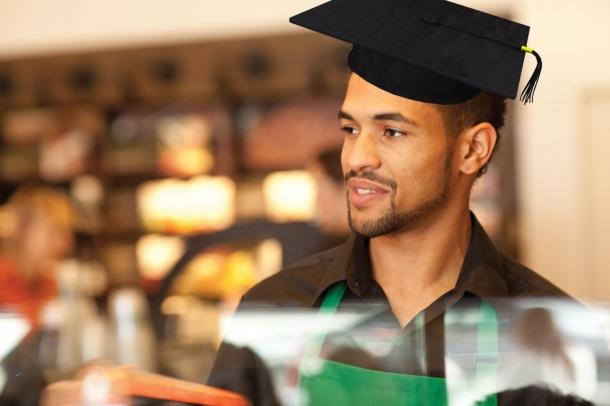 underemployed starbucks barista grad