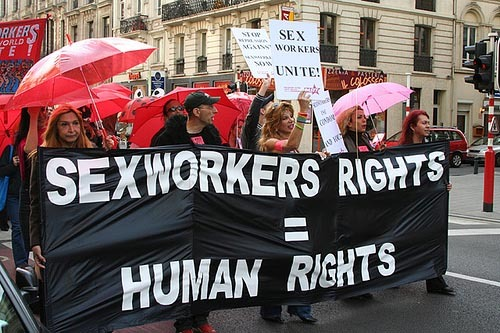 Sex workers march in Turkey. Source: genderacrossborders.com