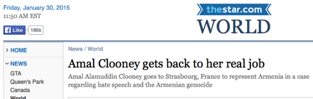 Amal Clooney Canadian feminist blog