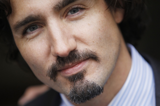 Justin Trudeau shows off his Movember moustache in Ottawa, November 30, 2011. Photo: Jean Levac, Ottawa Citizen