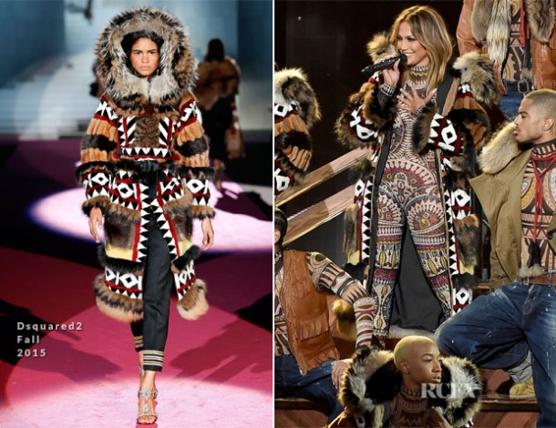 Side by side: on the left, the original coat by DSquared.